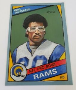 Football Art Card ORIGINAL of Eric Dickerson 84 Rookie 1 1 Acrylic painting. $32.00