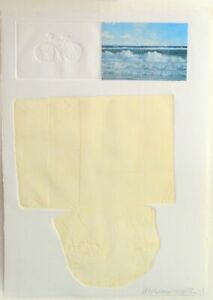 Robert Rauschenberg - The Tramp - HAND SIGNED Aquatint Embossing and Collage 74 $3,600.00
