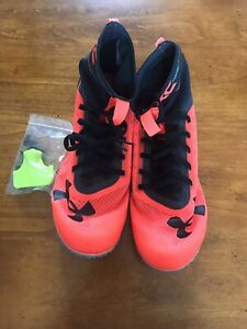 Men's Under Armour Racing XC Trail Running Shoes W Spikes 3020349 100 Sz 11.5 $43.95