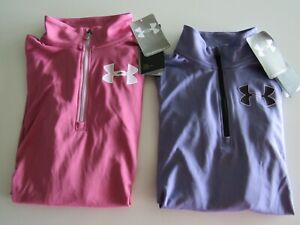 Under Armour Girls UA Tech 1 2 Zip Top 1327854 Nwt $16.99