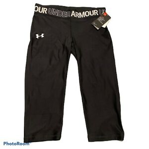 UNDER ARMOUR GIRLS XL CROP LEGGINGS $25.00