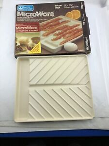 MICROWARE BACON COOKER RACKS TRAY PM 469-TI Microwave Defrost  LOT OF 3