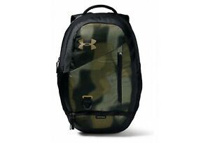 Under Armour Hustle 4.0 Camo Backpack Black Green Gold $42.99