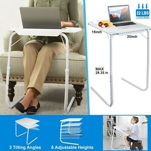 Foldable Portable Table TV Table Dinner Tray Laptop Adjustable Desk Home Office