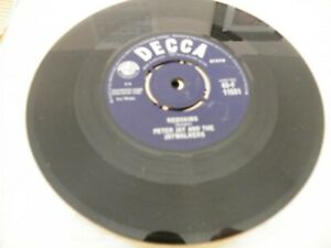 PETER JAY AND THE JAYWALKERS REDSKINS 45 SINGLE RECORD DECCA LABEL GBP 2.49
