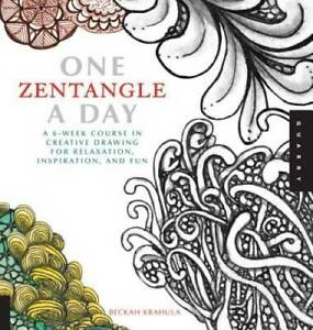 One Zentangle A Day: A 6 Week Course in Creative Drawing for Relaxation GOOD $4.73