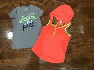 Girls Size 10 Tops Under Armour 90 Degrees Shirts Lot Kids Clothing Hoodie Neon $12.45