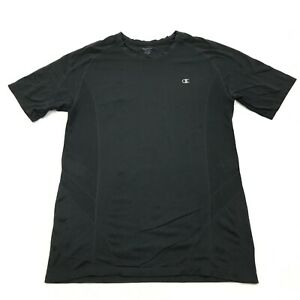 Champion Dry Fit Shirt Size Extra Large Tall Fitted Black Short Sleeve Vented $12.39
