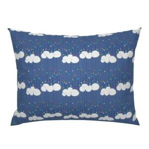 Rain Storms April Clouds Rainbow Dashes Pillow Sham by Roostery
