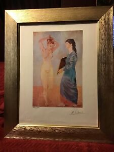 Pablo Picasso 1954 Original Print Hand Signed Lithograph with Certificate. $299.95