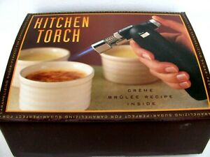 Williams Sonoma Kitchen Torch Adjustable Flame Creme Brulee Culinary Cooking