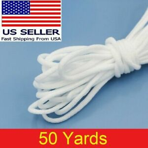 50 yard 1 8quot; Round Elastic Band Rope Cord Ear Hanging Tape Sewing For Face Masks $9.53