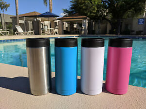 Skinny Can Cooler Slim Insulated Coozy Cup 12 oz
