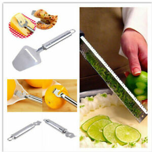 Stainless Steel and Plastic Hand Cheese Grater Slicer Nutmeg Zester
