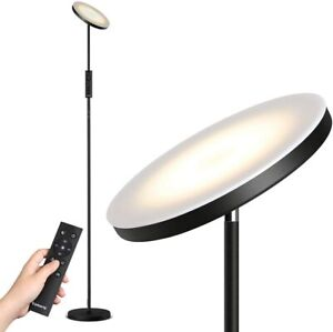 LED Floor Lamp with Stepless Dimming Color Temperature Torchiere Lamp