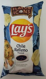 NEW Lay's Chile Relleno Flavored Potato Chips Cocina Azul Flavor Icons FREE SHIP