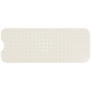 Rectangle Non-Slip Secure Safety Mat With Suction Cup Bathtub Kitchen Use Cream