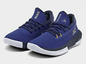 UNDER ARMOUR KID'S UA SC 3ZERO III BASKETBALL SHOES Size 2 Youth NBA CURRY BLUE $29.99