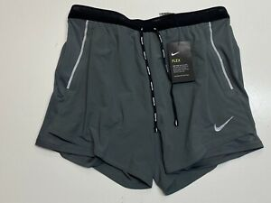 "Nike 7"" Flex Challenger 2 In 1 Running Shorts Grey CJ9708 068 Men's Size Large $39.99"