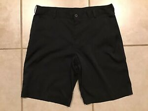 READ DESCRIPTION Nike Golf Chino Khaki Shorts Black Dri Fit Mens 36 $12.99