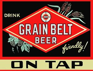 TIN SIGN Grainbelt Beerquot; Beer Mancave Wall Decor