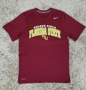 Nike Dri Fit FSU Florida State Golden Girls Fitness Shirt Sz S $22.00