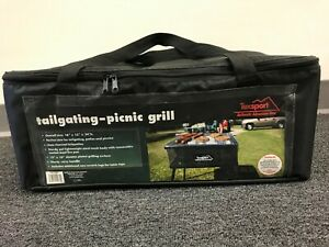 Texsport Portable Charcoal Grill BBQ Picnic Tailgating Camping w Carry Case