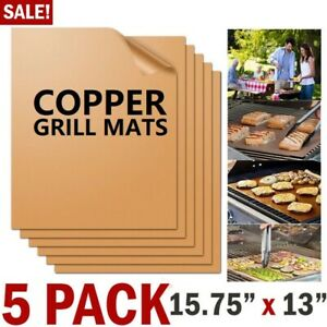 Easy BBQ Grill Mat Copper Pad Non Stick Barbecue Bake Cooking Mat Chef Reusable