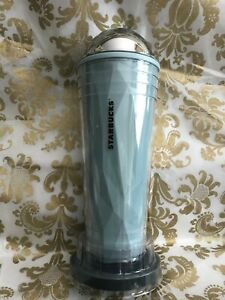 NEW Starbucks Chiseled OMBRE Venti Cold Tumbler with CHROME DOME and extra lid