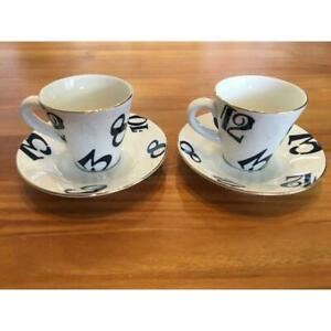 FRANCK MULLER Pair of Espresso Cup amp; Saucer in Box New