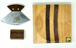 New ULU Factory Caribou Reindeer Cutting Set with Blade, Cutting Board,