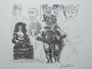 Picasso Pablo - Sex Modern And IN Old School - - Lithography Signed #1200ex $98.78
