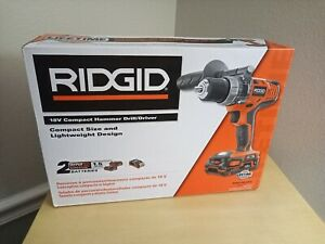 RIDGID 18V Hyper Lithium-Ion Cordless 1/2 in. Compact Hammer Drill/Driver Kit