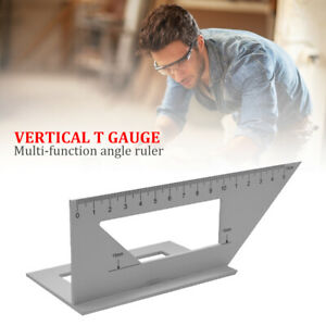 45 90 Degree Gauge Right Angle Ruler Measuring Woodworking Tool Protractor $10.63