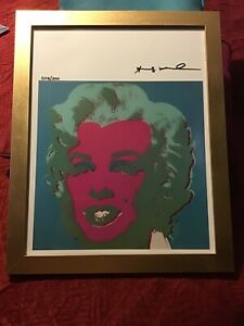 Andy Warhol 1986 Original Lithograph Hand Signed with COA 44200 $379.50