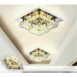 36W Modern Crystal Ceiling Light LED Pendant Lamp Flush Mount Chandelier Fixture