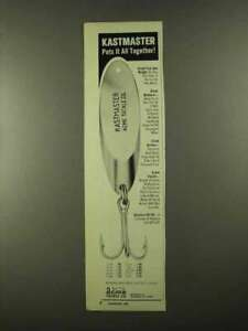 1974 Acme Tackle Kastmaster Lure Ad Puts it Together