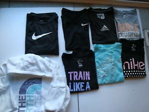 Girls T shirts Sweatshirt Nike Dri Fit Adidas North Face Medium $34.99