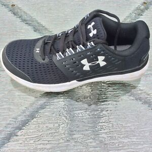 Womens 8 Under Armour Micro G Motion Black White Running Gym Shoes 1301794 001 $34.56