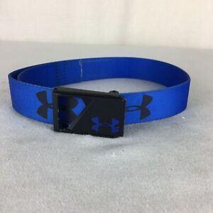 Under Armour Youth Golf Belt Royal Blue Adjustable Up to 33 Inches $1.99