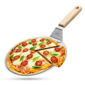 10#x27;#x27; Round Stainless Steel Pizza Peel Shovel Cakes Lifter Pizzas Spatula Paddle