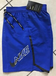 NIKE MENS AIR FLASH FLEX STRIDE RUNNING SHORTS 7 BV5078 405 Blue L Brief Lined $49.50