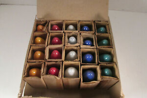 20 Vintage C 9 1 4 Christmas Light Bulbs 5 Colors With Box Japan All Working