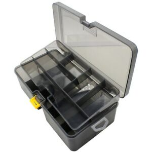 10X(Double Layer Fishing Tackle Box Lures Bait Storage Case Organizer Conta C5G9
