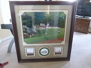 Jack Nicklaus and Arnold Palmer signed Augusta Centerpiece for any collection $156.76