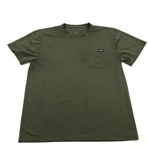 Dickies Dry Fit Shirt Mens Size Extra Large XL Olive Green Short Sleeve Pocket $14.77