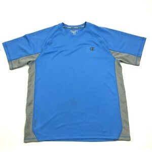 Champion Dry Fit Shirt Size Medium M Sky Blue Short Sleeve Workout Top Relaxed T $18.77