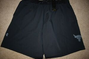 Under Armour Men's Project Rock Unstoppable Shorts 9119 Size Large Black NWT $23.50