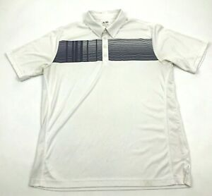 Adidas Golf Polo Dry Fit Shirt Mens Size Medium White Performance Top Collared $18.77