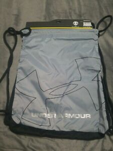 Under Armour Dauntless Sackpack Bag gear string backpack Gray Black 1217525 New $13.99
